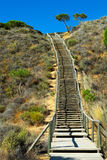 Bending stair. Going up the mountain Royalty Free Stock Photography