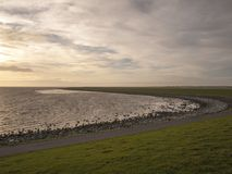 Waddensea dike, Terschelling Royalty Free Stock Images