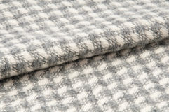 Bending woolen fabric, textile background Royalty Free Stock Photography