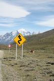 Bends in Road, Patagonia Stock Photos