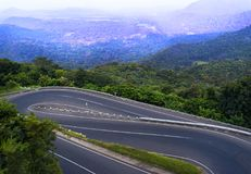 18 bends road in sri lanka royalty free stock photography