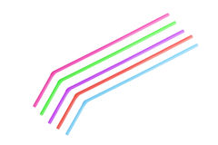 Bendy drinking straws Royalty Free Stock Images