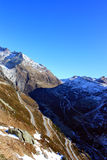 Bendy roads in the Alps Royalty Free Stock Photography