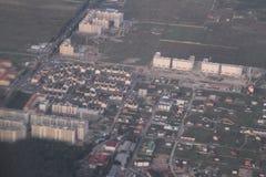 Bene immobile da una veduta panoramica Sviluppo privato delle costruzioni multipiano, Kiev, Ucraina, 09 dei cottage 08 2017 Fotografia Stock Libera da Diritti
