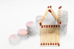 Bene immobile di prezzi della casa e concetto dei mercati Immagine Stock
