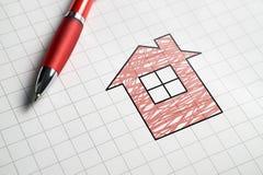 Bene immobile e concetto di vendita o d'acquisto delle case Fotografia Stock Libera da Diritti