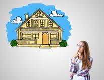 Bene immobile, ipoteca ed alloggio Fotografia Stock Libera da Diritti