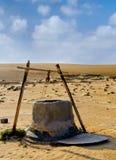 Bene nel deserto dell'Oman Fotografia Stock