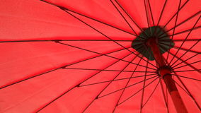 Beneath a big umbrella Royalty Free Stock Image