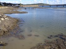 Beneath the coastal waters Stock Photo