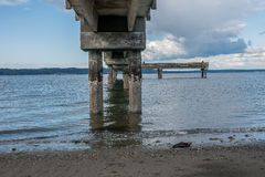 Beneath Dash Point Pier 2 Royalty Free Stock Photo