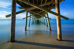 Beneath the Fishing Pier royalty free stock photo