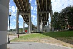 Beneath a freeway in Portland Oregon. Stock Image