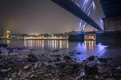 Beneath the golden Jubilee bridge in London Royalty Free Stock Photos