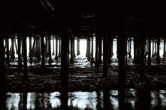 Beneath the Pier Royalty Free Stock Photos
