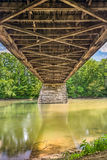 Beneath Potters Covered Bridge Stock Images