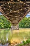 Beneath Potters Covered Bridge Stock Images