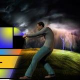 Beneath the storm Stock Photography