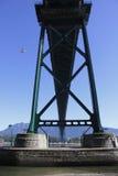 Beneath Vancouvers Lions Gate Bridge Stock Image