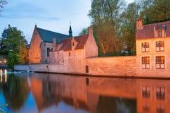 Benedectine-Kloster bei Sonnenuntergang Stockbilder