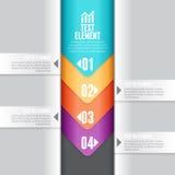 Benedenwaartse Pijl Infographic Stock Foto