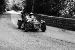 BENEDETTI GIANNINI FIAT 750 SPORT 1950. PESARO, ITALY - MAY 15: old racing car in rally Mille Miglia 2015 the famous italian historical race 1927-1957 on May 15 stock photography