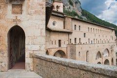 Benedettinus kloster, Subiaco Royaltyfria Foton