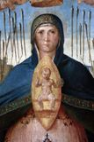 Madonna Help of Christians. Benedetto Diana: Madonna Help of Christians, Altarpiece in the Franciscan church in Poljud, Split, Croatia Royalty Free Stock Photo