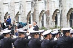 benedict cavaco pope prezydent silva xvi Obrazy Stock