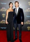 Benedict Cumberbatch και κυνηγός της Sophie Στοκ Εικόνα