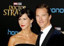 Benedict Cumberbatch en Sophie Hunter Stock Foto's