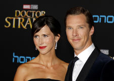 Benedict Cumberbatch and Sophie Hunter Royalty Free Stock Photo