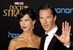 Benedict Cumberbatch and Sophie Hunter Royalty Free Stock Images