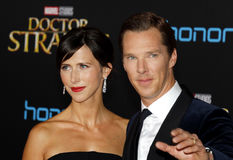 Benedict Cumberbatch and Sophie Hunter Stock Image