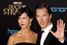 Benedict Cumberbatch und Sophie Hunter Lizenzfreie Stockbilder