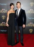 Benedict Cumberbatch y Sophie Hunter Imágenes de archivo libres de regalías