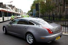 benedict drivande xjl xvi för edinburgh jaguarpope Fotografering för Bildbyråer