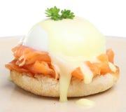 benedict eggs курят семги, котор Стоковая Фотография RF