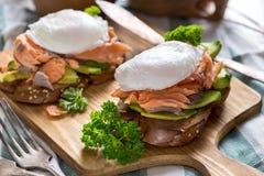 benedict eggs семги Стоковые Изображения