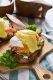 benedict eggs семги Стоковое фото RF