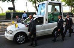 benedict paris pope xvi Arkivbild