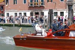 benedict pope venice besök xvi Fotografering för Bildbyråer