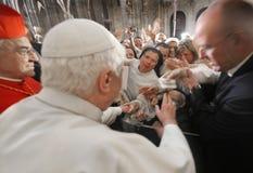 benedict pope xvi Royaltyfria Bilder