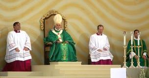 Benedict XVI celebrate a mass Stock Photography