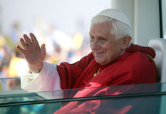 Benedict XVI dentro   Fotos de Stock