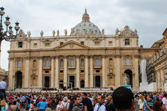 Benedict XVI. The general audience in St. Peter's Square. Vatican. Saint Peter's Square is among most popular pilgrimage sites for Roman Catholics Stock Image