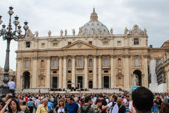 Benedict XVI. The general audience in St. Peter's Square Stock Photos
