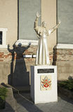 Benedict XVI sculpture near church of Jude Thaddaeus. Luchaj. Belarus Stock Photos