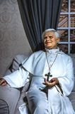 Benedict XVI statue. Wax statue of Pope Benedict XVI  at the Krakow Wax Museum - Cracow, Poland Royalty Free Stock Image