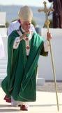 Benedict XVI viert een massa Royalty-vrije Stock Afbeeldingen